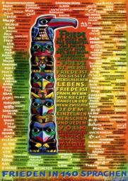 Frieden in 140 SprachenA4 Poster